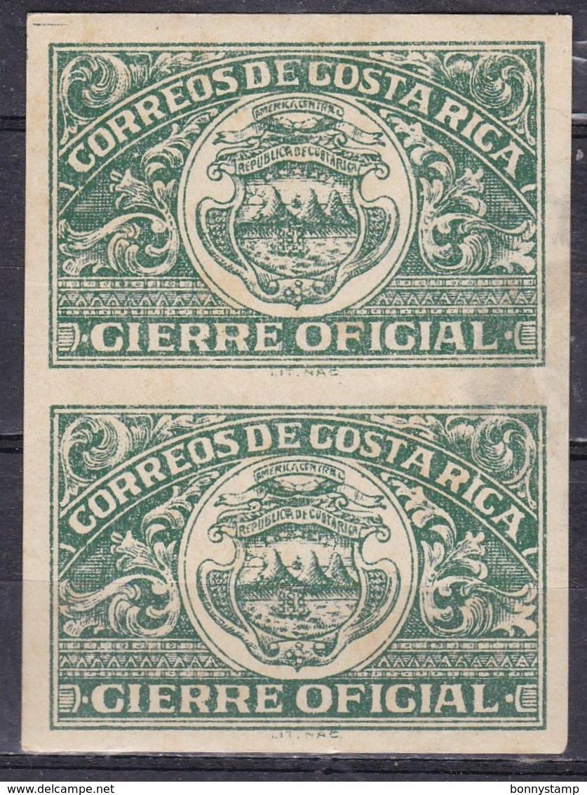 Costa Rica - Gierre Oficial, Coppia Imperf. - MNH** - Costa Rica