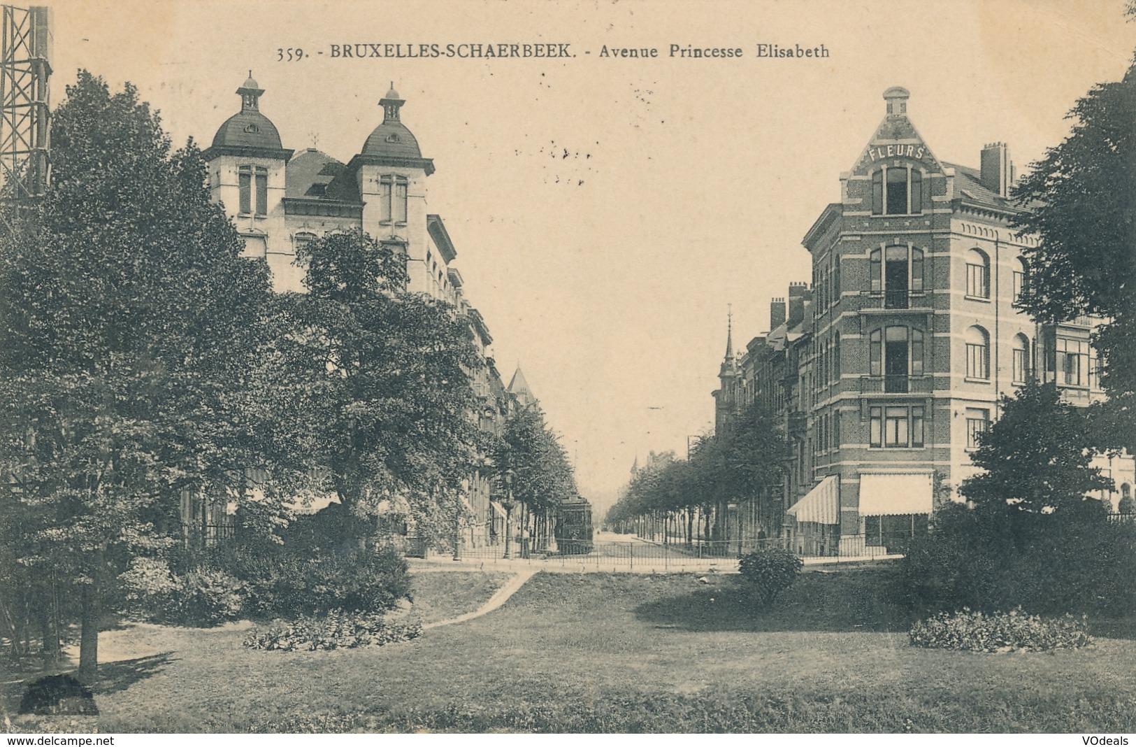 CPA - Belgique - Brussels - Bruxelles - Schaerbeek - Avenue Princesse Elisabeth - Schaarbeek - Schaerbeek