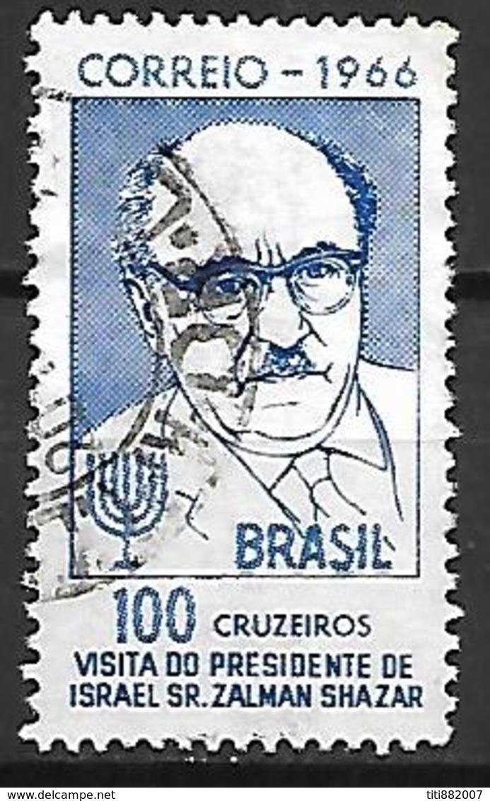 BRESIL    -    1966 .  Visite Du Président D' Israel Sr. Zalman Shazar.  Oblitéré. - Poste Aérienne