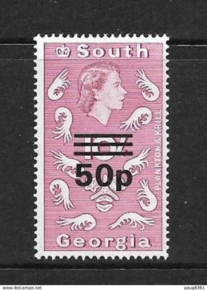 GEORGIE DU SUD 1971 COURANT DE 1963 SURCHARGE  YVERT N°38  NEUF MNH** - Géorgie Du Sud
