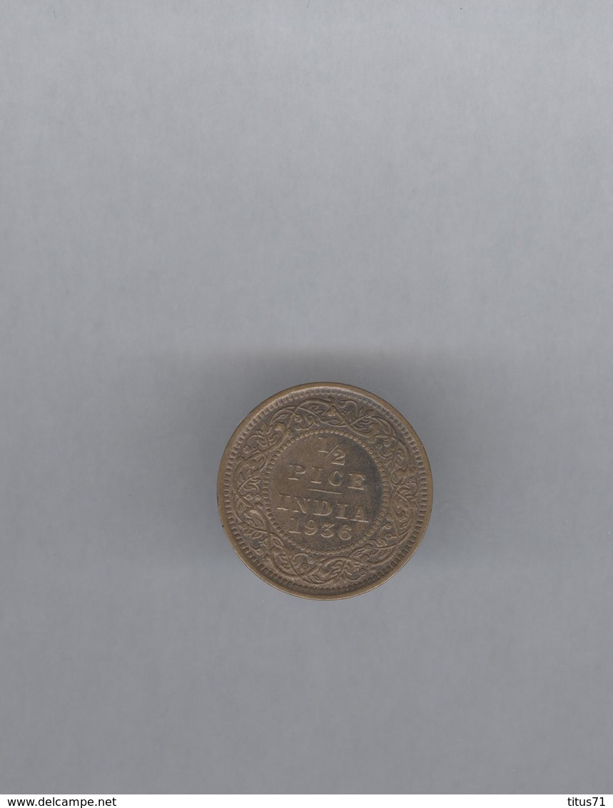 1/2 Pice Inde / India 1936 - Georges V - TTB+ - Colonies