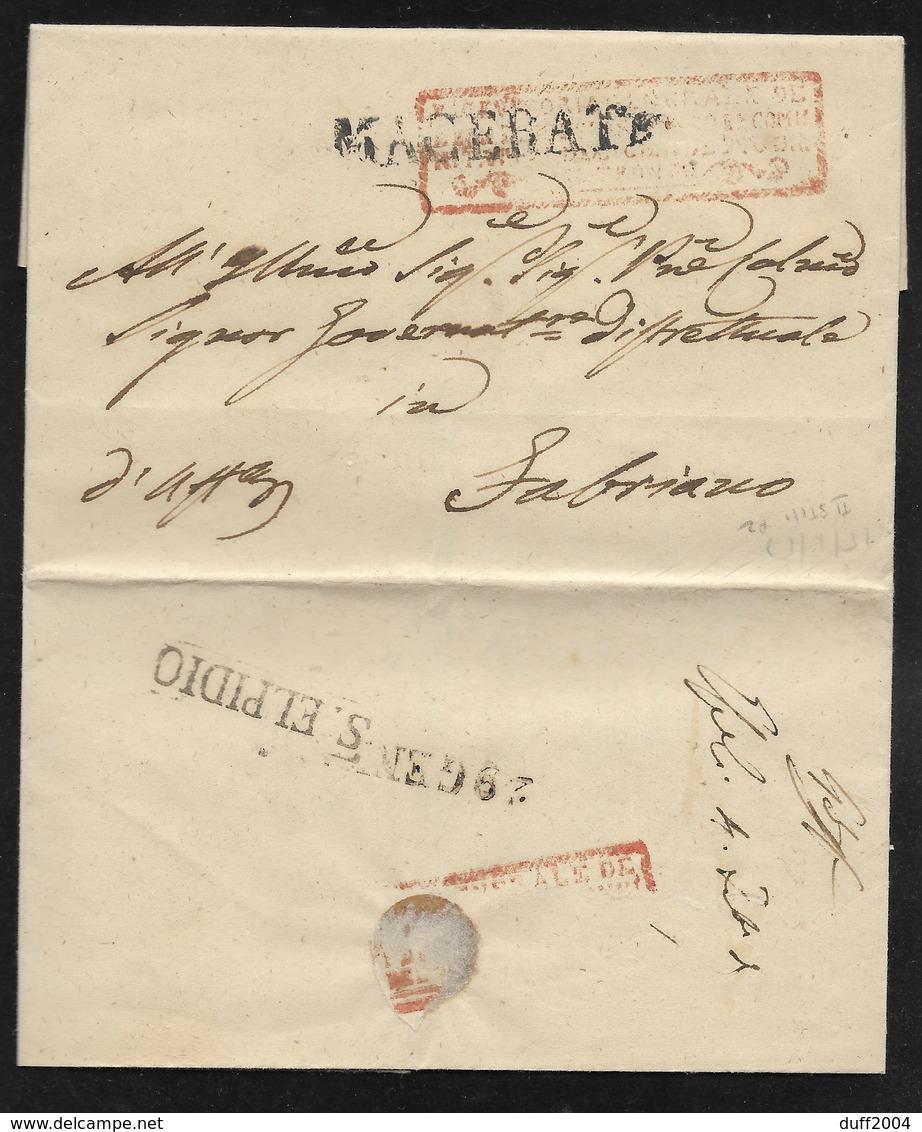 DA SANT' ELPIDIO A FABRIANO - 15.1.1850. - 1. ...-1850 Prefilatelia