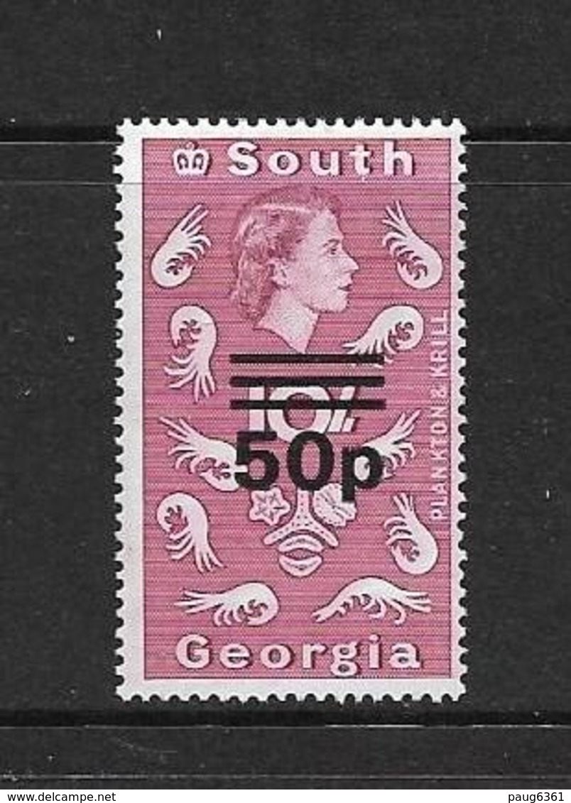 GEORGIE DU SUD 1976 COURANT DE 1963 SURCHARGE  YVERT N°72A  NEUF MNH** - Géorgie Du Sud