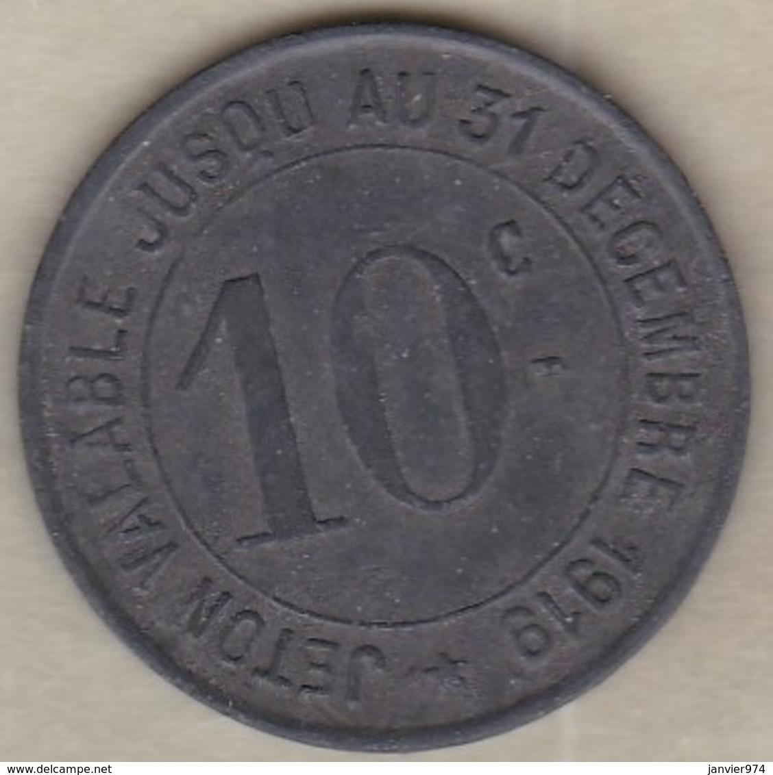 81. Tarn. Carmaux. Société Des Mines. 10 Centimes 1917, En Zinc - Monétaires / De Nécessité