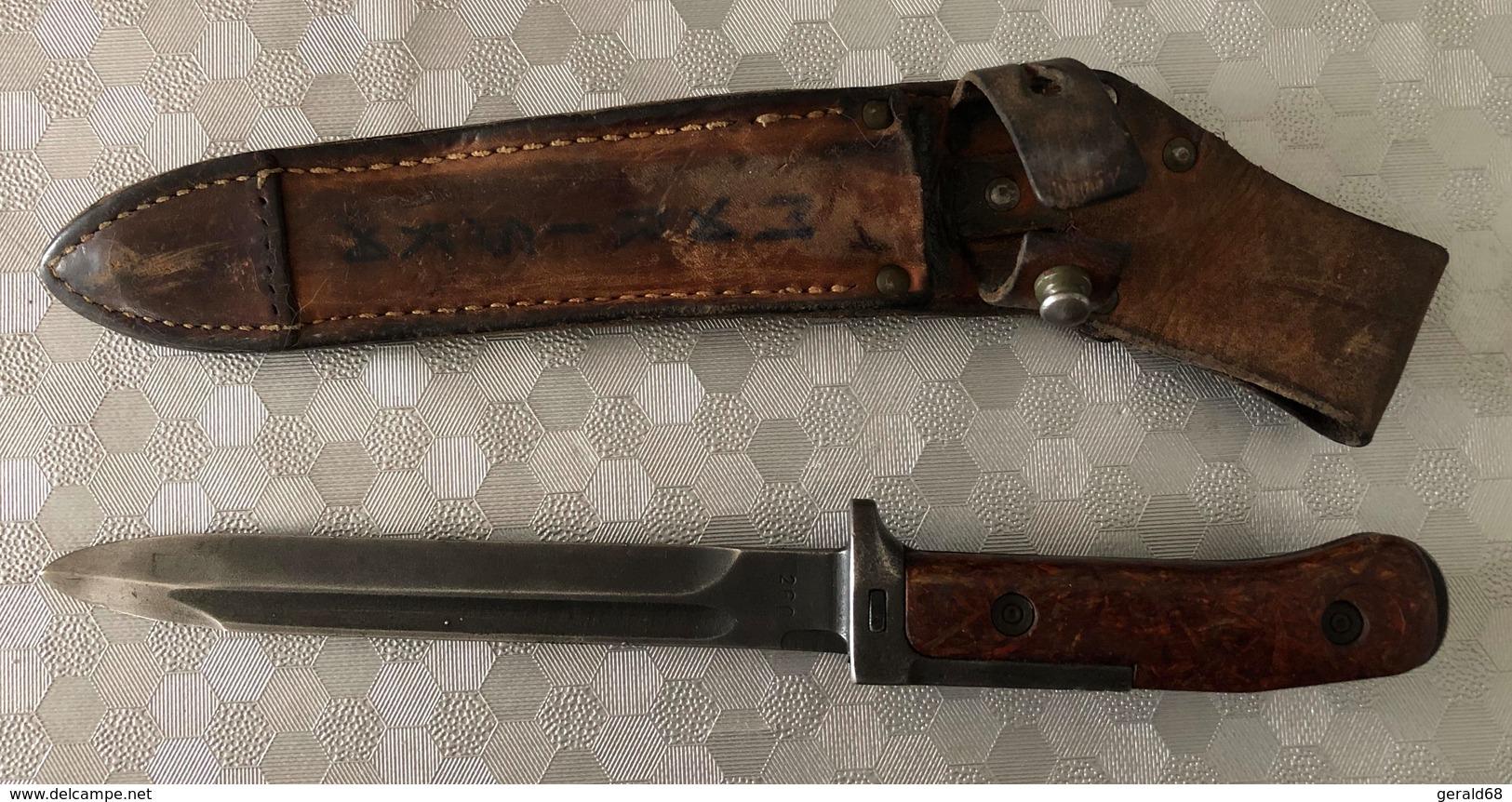 Baïonnette Tchèque VZ 58, 2 Rivets, Soie Longue, Croisière Longue,  Variante 4 - Armi Bianche