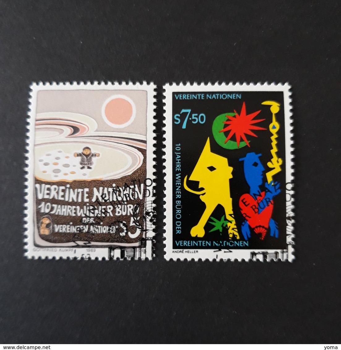 N° 94 Et 95      10 Ans Du Centre De Vienne - Centre International De Vienne
