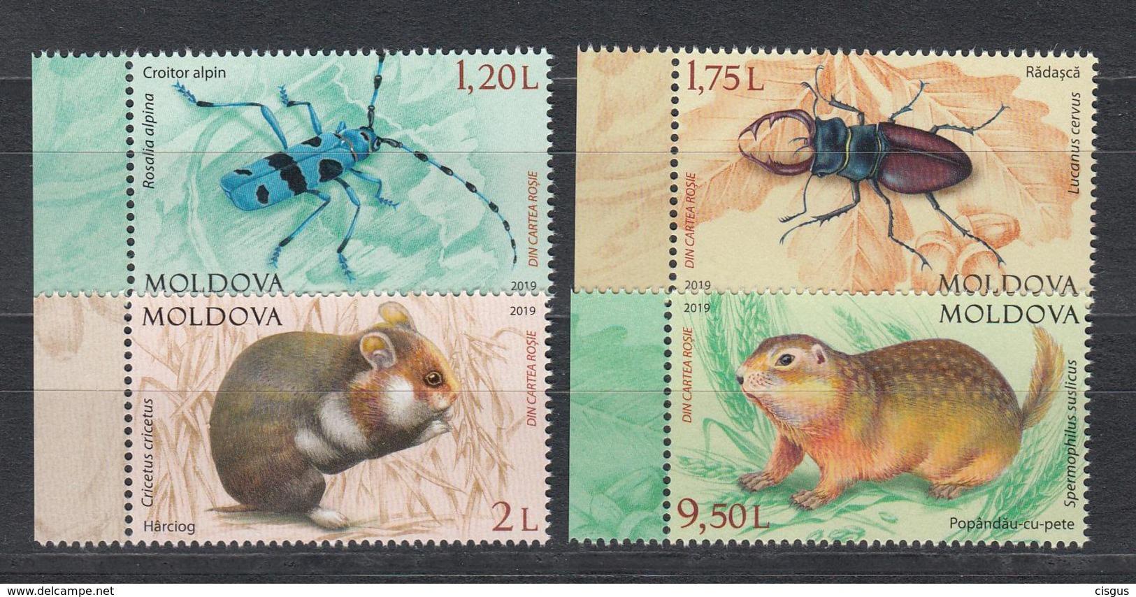 Moldova Moldawien MNH** 2019  Mi 102-95 Red Book Of Moldova Rodent & Insect - Moldawien (Moldau)