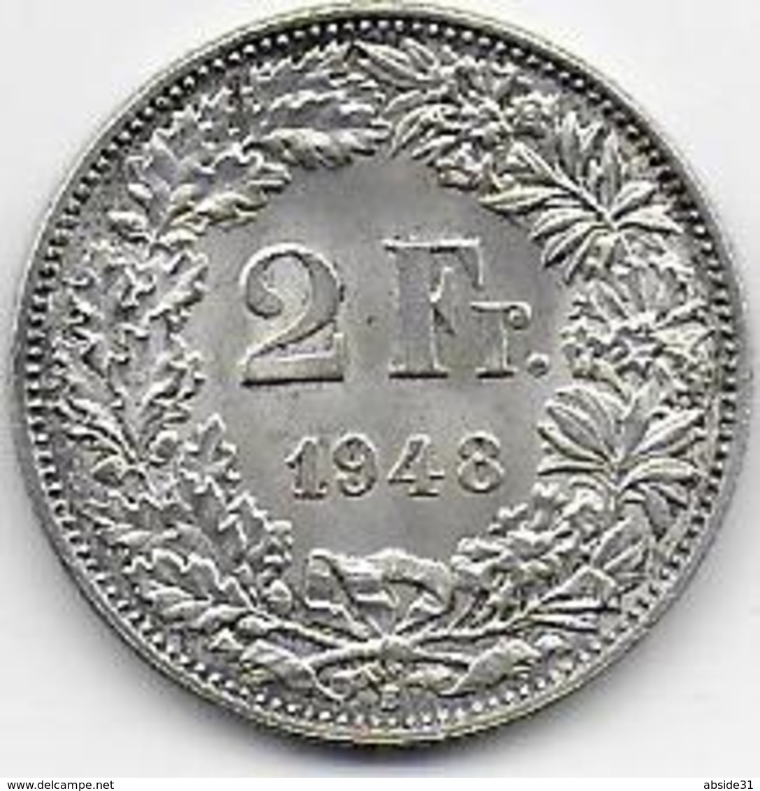 SUISSE - 2 Fr  1948 - Suisse