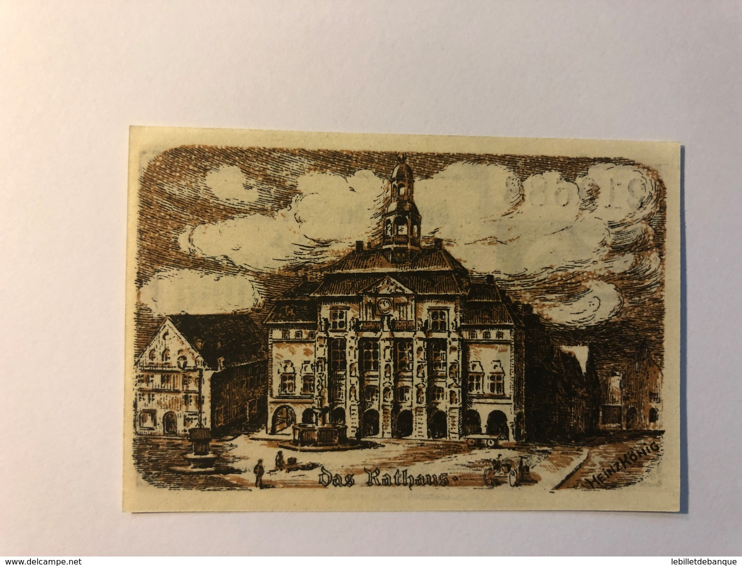 Allemagne Notgeld Luneburg 50 Pfennig - [ 3] 1918-1933 : République De Weimar