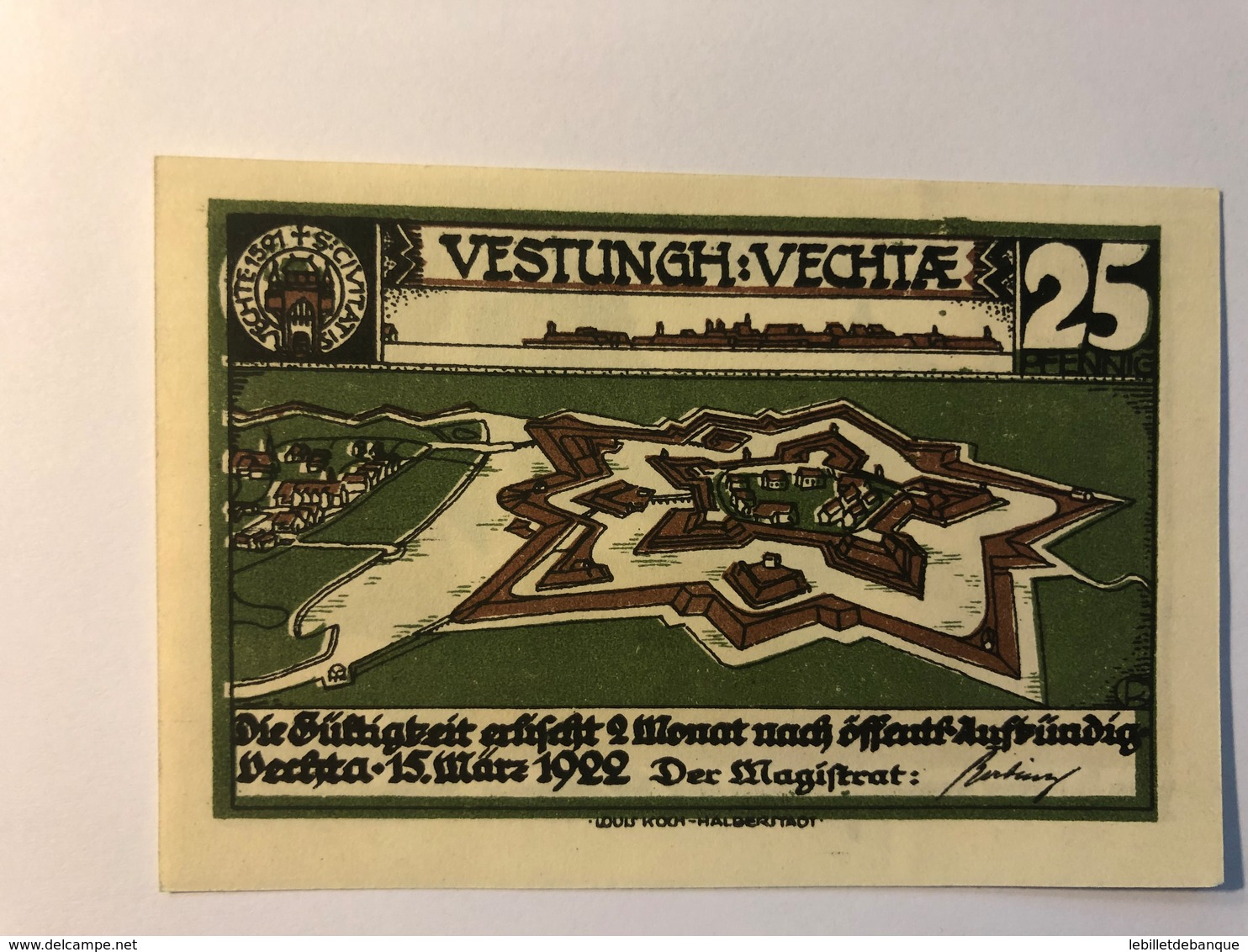 Allemagne Notgeld Vechiae 25 Pfennig - Collections