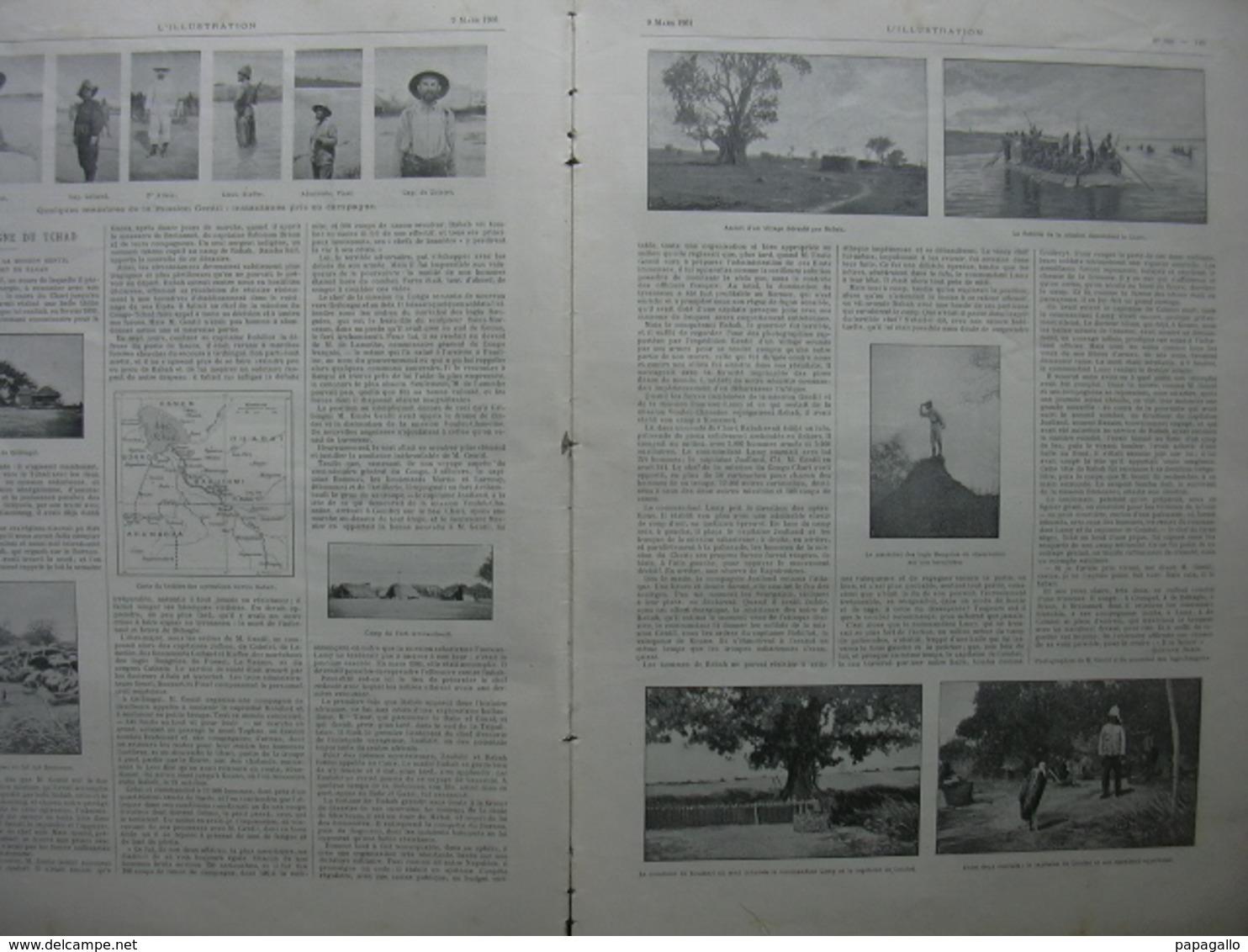 L'ILLUSTRATION N° 3028 CAMPAGNE TCHAD/ MONTCEAU LES MINES/ GARDE REPUBLICAINE/ RAIL/ RUSSIE/ - Journaux - Quotidiens