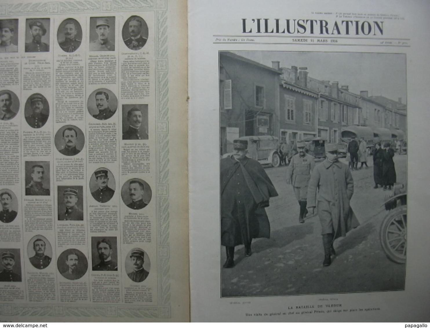 L'ILLUSTRATION 3810 JOFFRE PETAIN/ VERDUN/ DOUAUMONT/ AVIATEURS NAVARRE/ SERBES - Journaux - Quotidiens