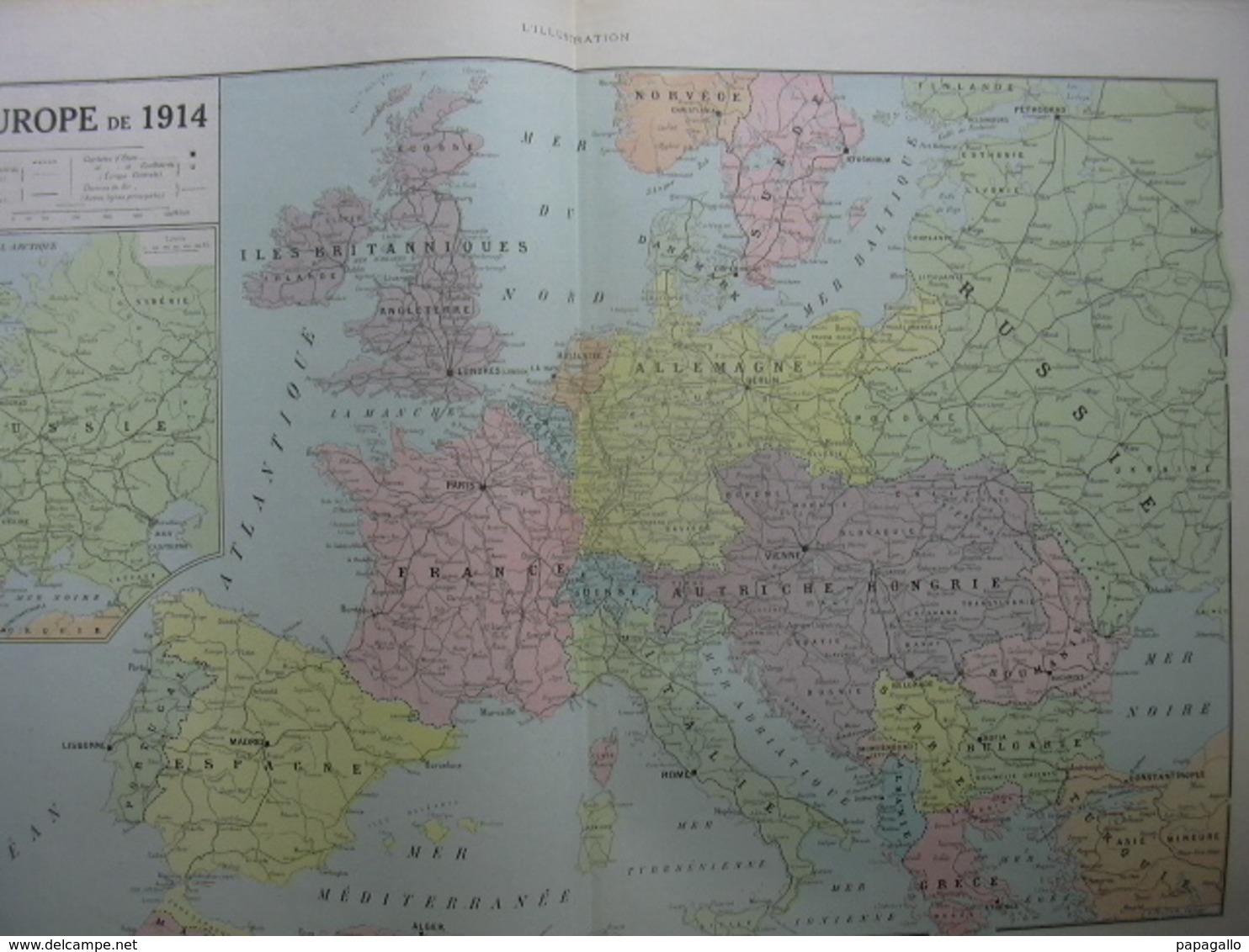 L'ILLUSTRATION 3976 CARTE DE L'EUROPE 1914/ TRAITE/ SALON DES ARTISTES - Journaux - Quotidiens