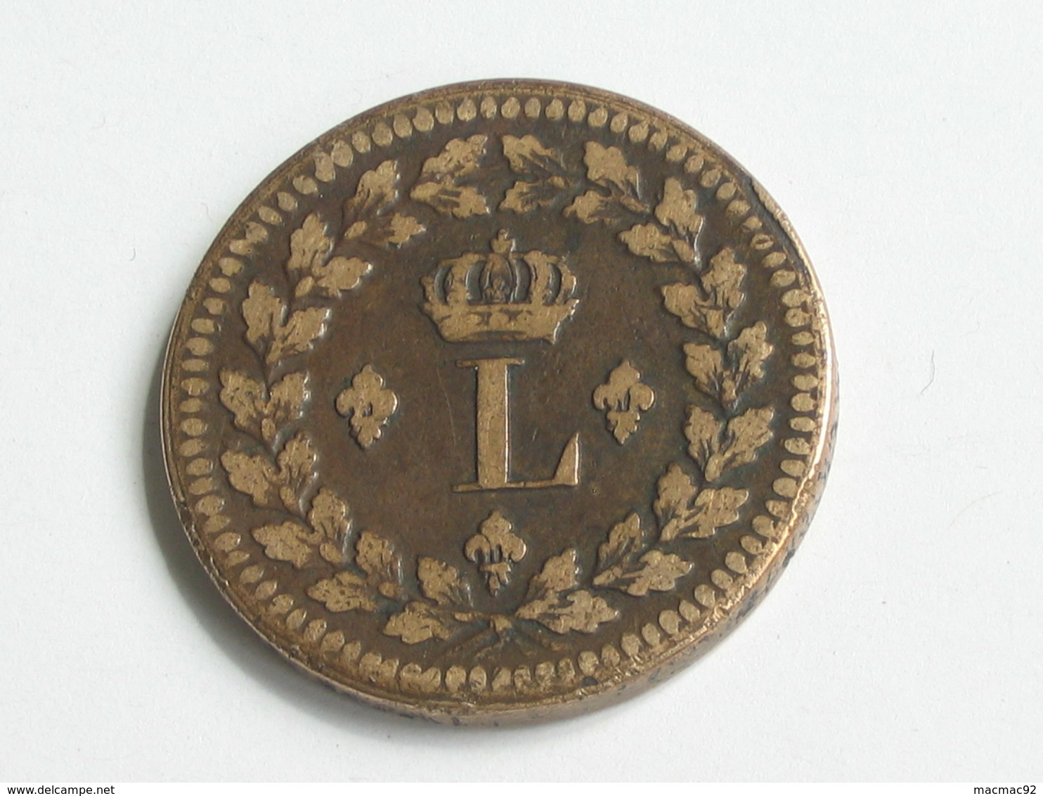 MAGNIGIQUE ET RARE DANS L'ETAT - 1 Décime à L'N Couronnée - 1814 BB - Blocus De Strasbourg   **** EN ACHAT IMMEDIAT **** - France