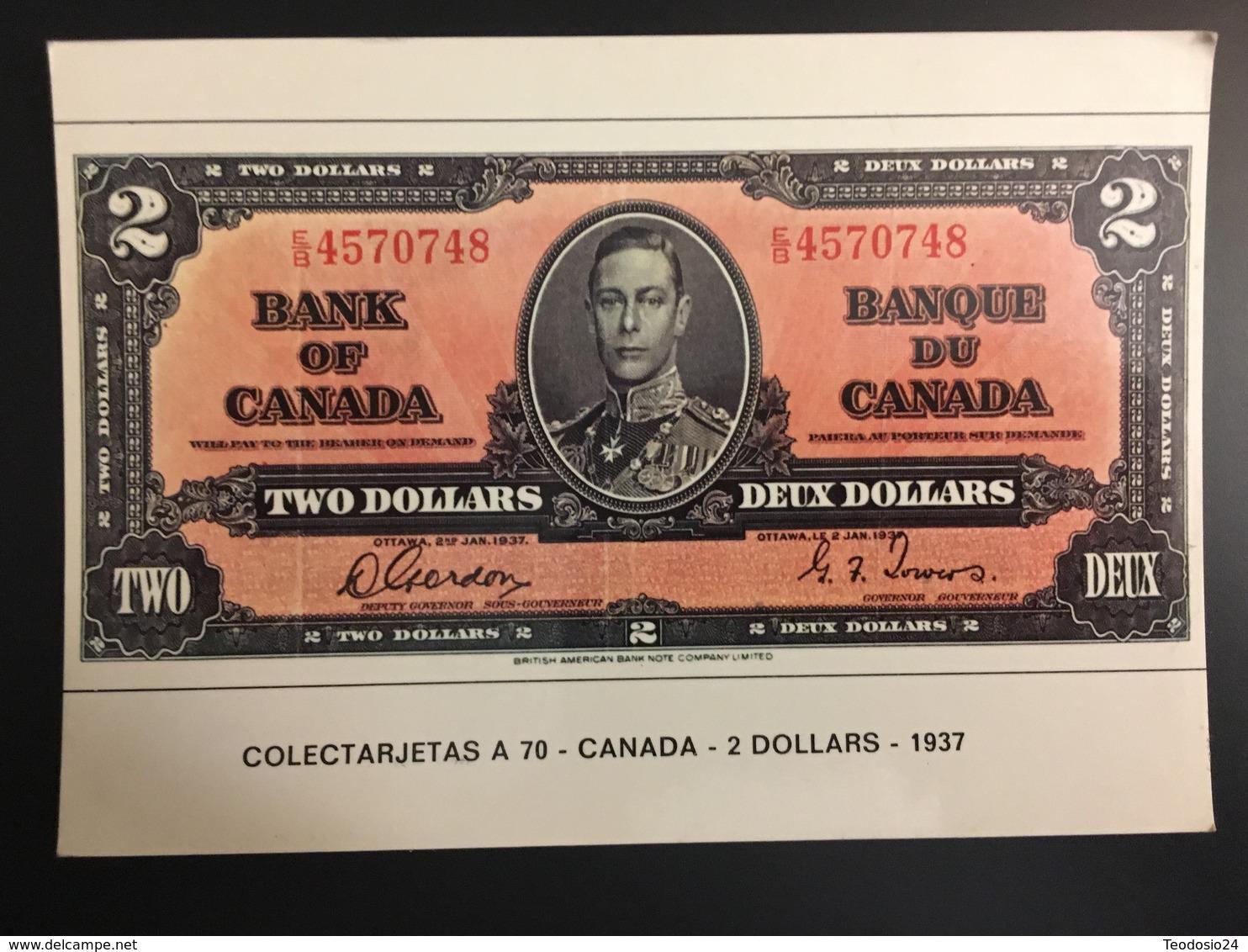 Billetes CANADA - Monnaies (représentations)