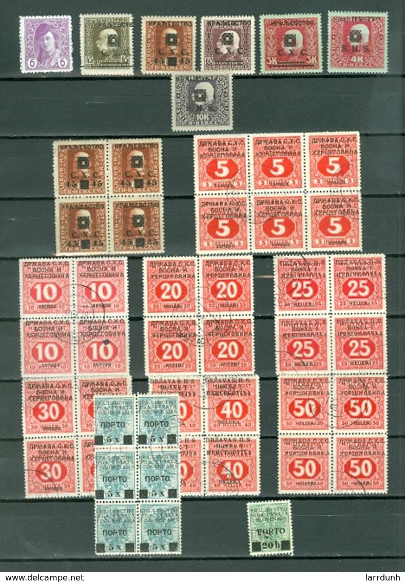 Yugoslavia BOSNIA & HERZEGOVINA  LOT Of 30.MNH USED Some Blocks Cat $30 WYSIWYG A04s - Yugoslavia