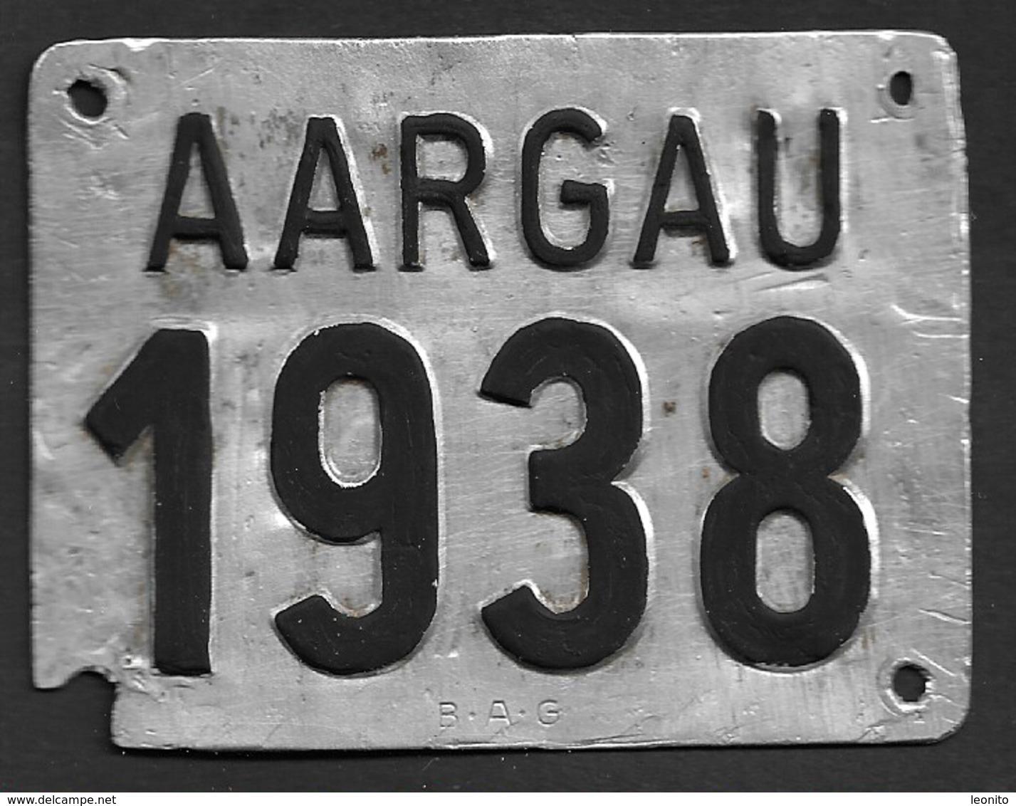 Velonummer Aargau AG 38 - Number Plates