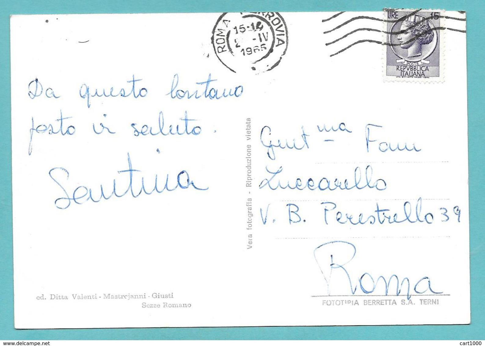 SEZZE ROMANO LATINA PIAZZA DE MAGISTRIS VG. 1965 - Latina