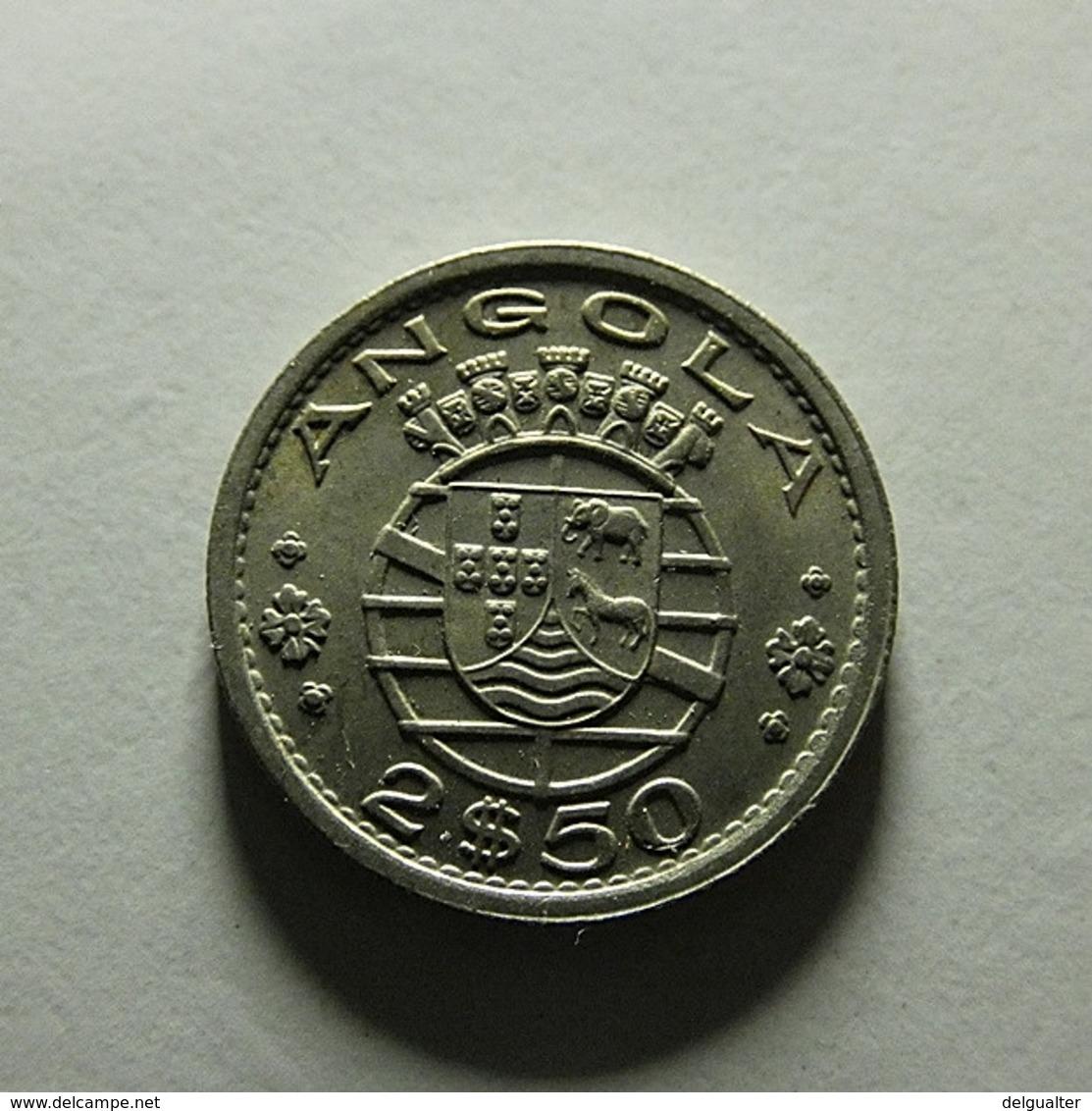 Portuguese Angola 2 1/2 Escudos 1956 - Portugal