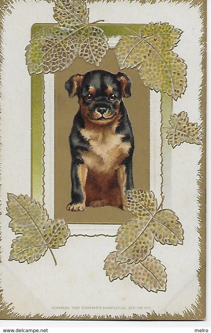 CPA - Tendresse D'un Bébé Chien, Carte Postale En Relief. - Dogs