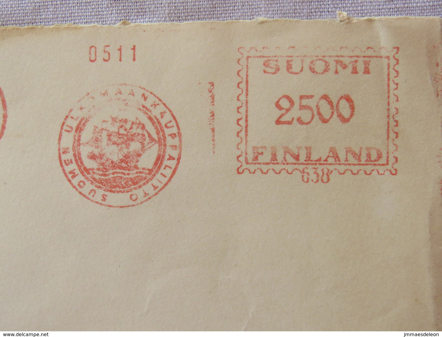 Finland 1952 Cover Helsinki To Germany - Machine Franking - Ship - Finland