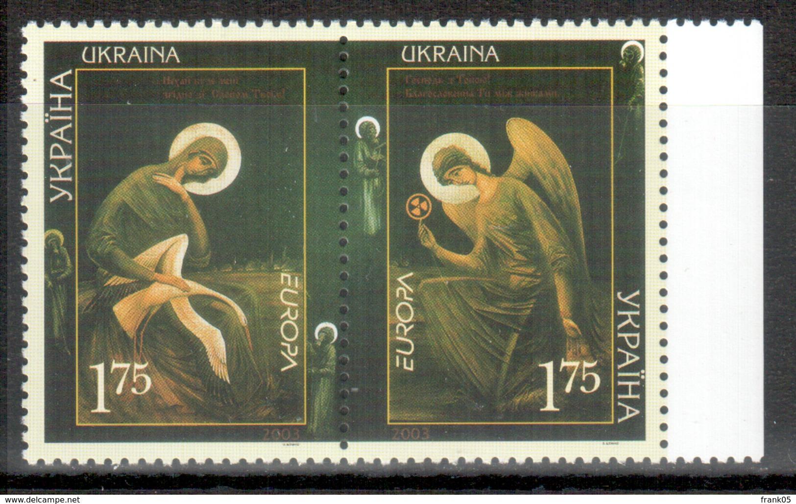 Ukraine 2003 Paar/pair EUROPA ** - Europa-CEPT