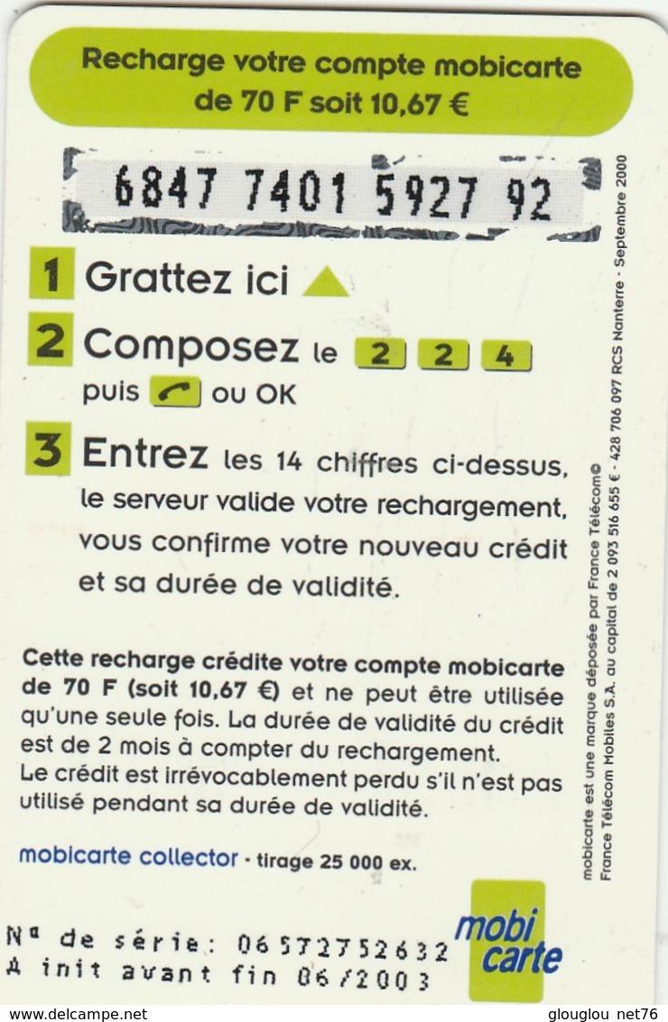 MOBICARTE  RECHARGE 70   INFOPUCE - Mobicartes (recharges)