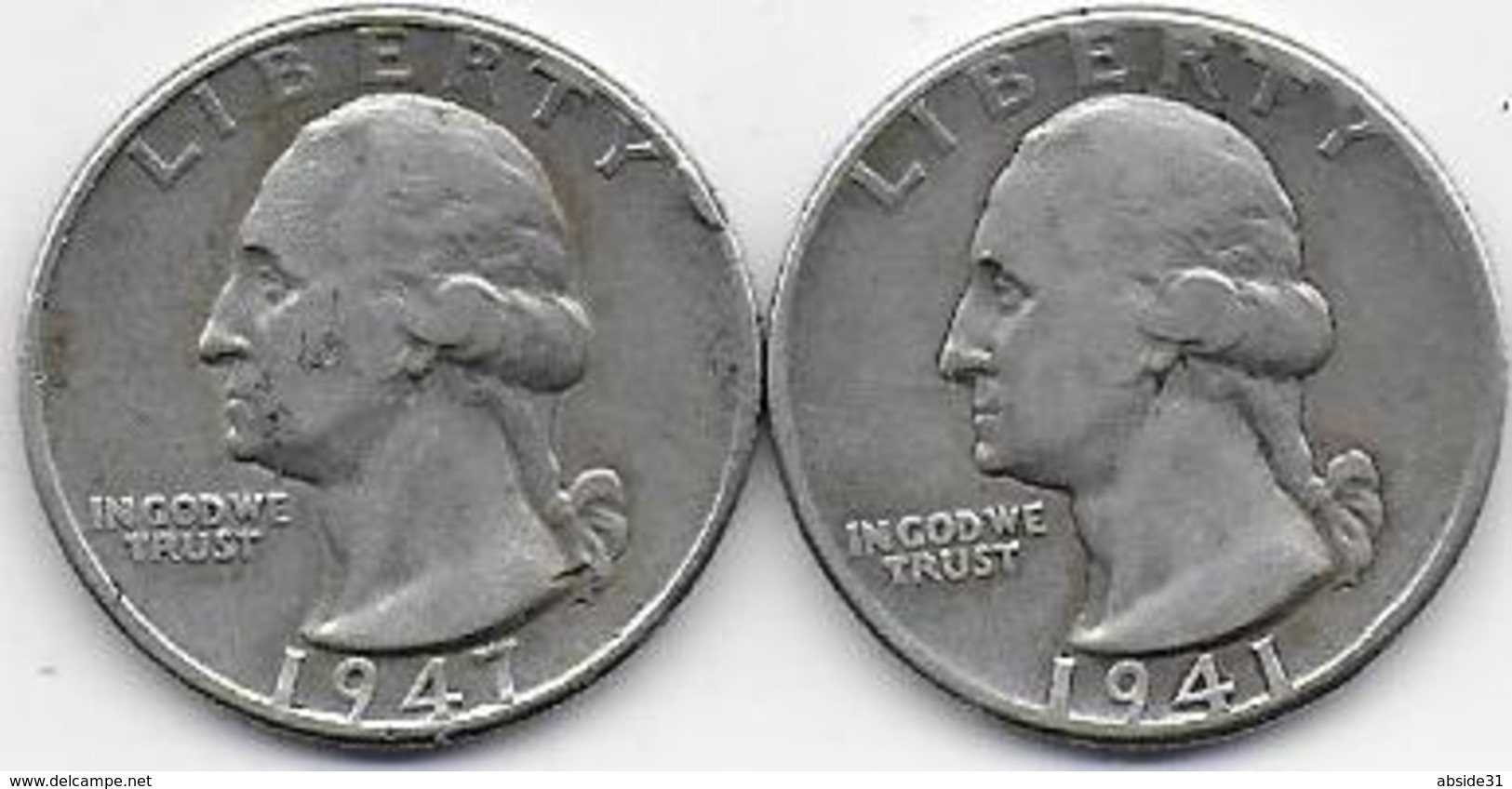 Etats Unis - 2 Quarters  1941 Et 1947 - Federal Issues