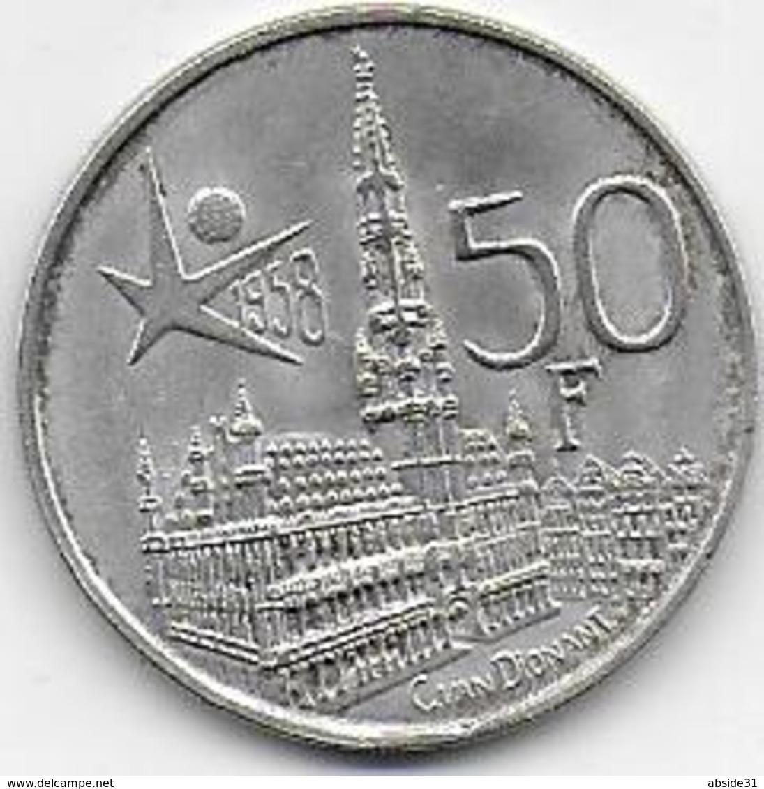 Belgique - 50 Fr  1958 - 1951-1993: Baudouin I