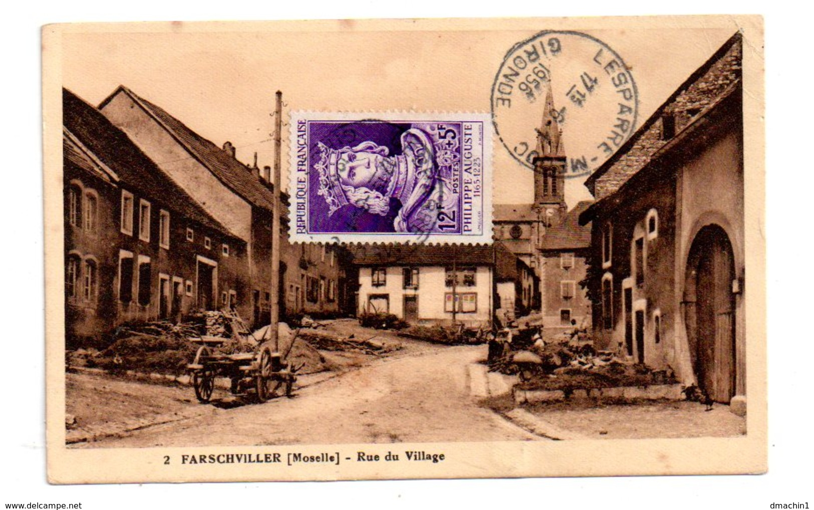 Farschviller - Rue Du Village-voir état - France