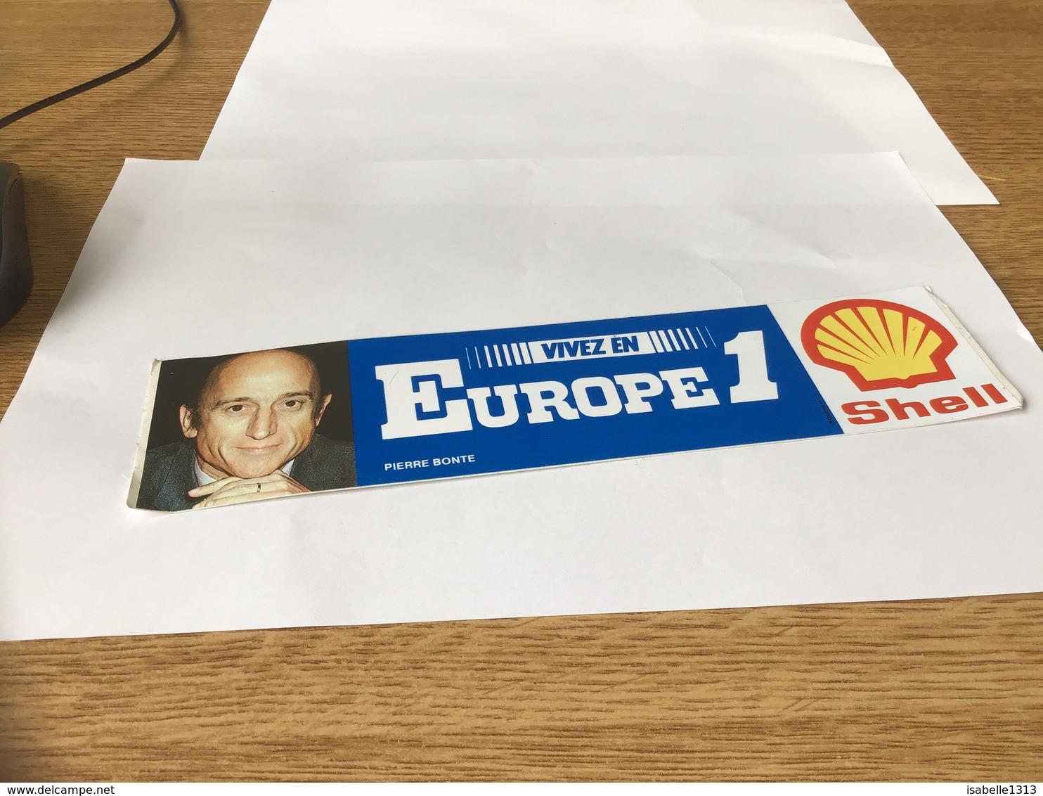 Autocollant Années 80 Europe 1 Shell Pierre Bonte - Autocollants