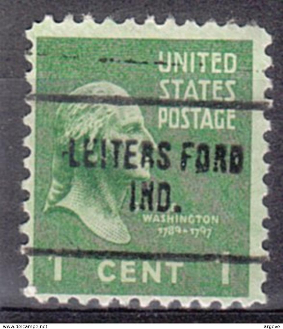 USA Precancel Vorausentwertung Preo, Locals Indiana, Leiters Ford 704 - Vereinigte Staaten