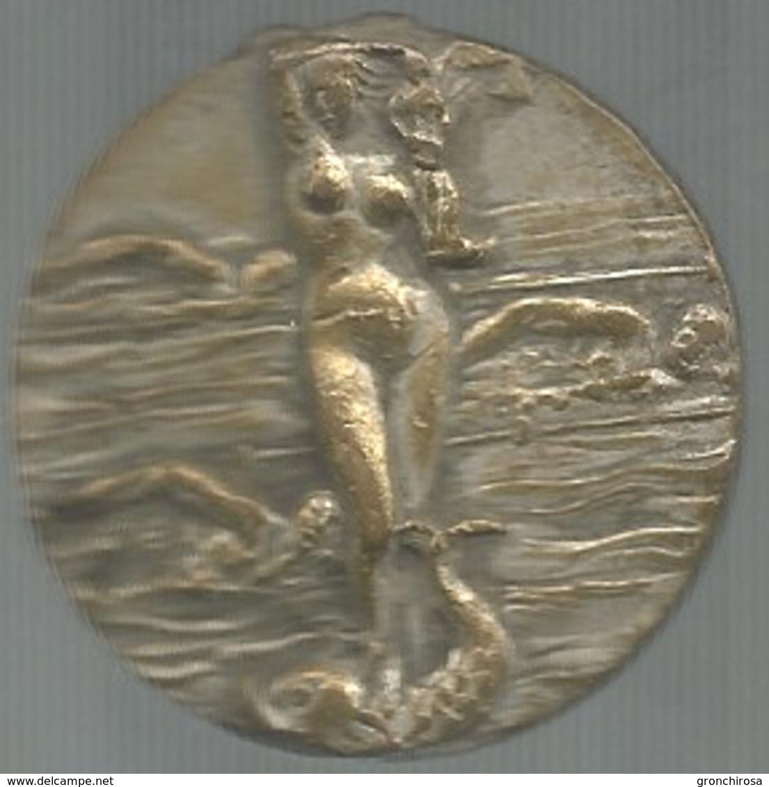 Sport, Federazione Italiana Nuoto, Mist. Ag., Gr. 17, Cm. 3,5. - Italia