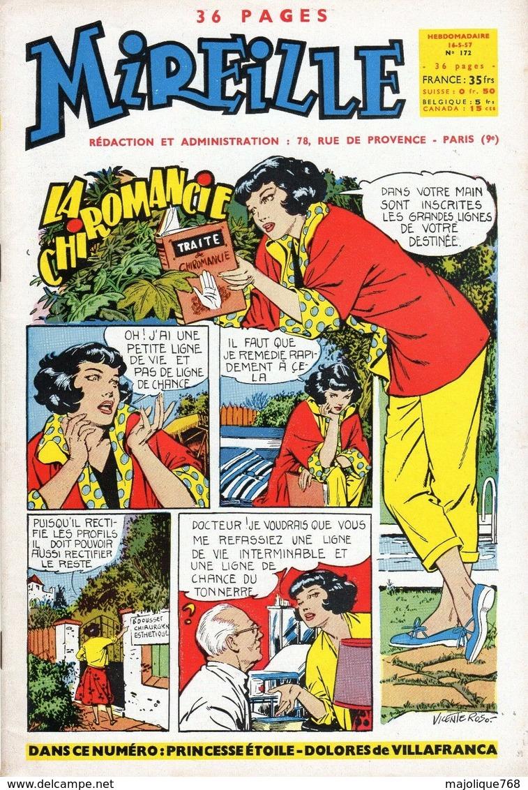 Magazine Mireille Hebdomadaire N°172 Du 16-05-1957 - La Chiromancie - - Magazines Et Périodiques
