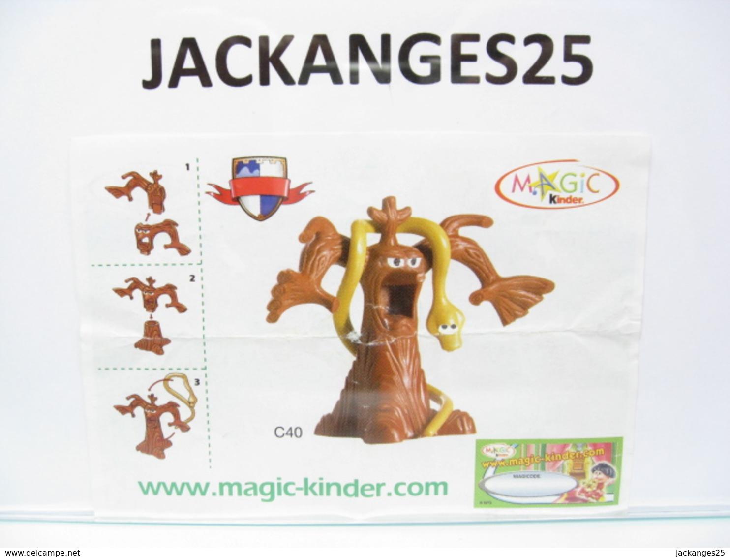 KINDER FUNNY CASTLE MPG C 40 2004 2005 + BPZ B EU 2004 + MAGIC CODE - Inzetting