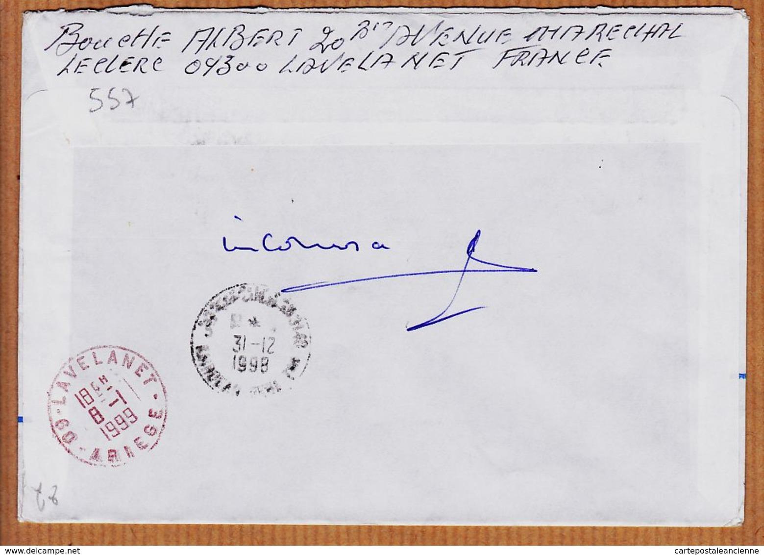 M045 TAAF NON DISTRIBUE Armements Reunionnais M/S SAINT-JEAN Le Capitaine Posté En Mer 1998 ALFRRED-FAURE CROZET - Lettres & Documents