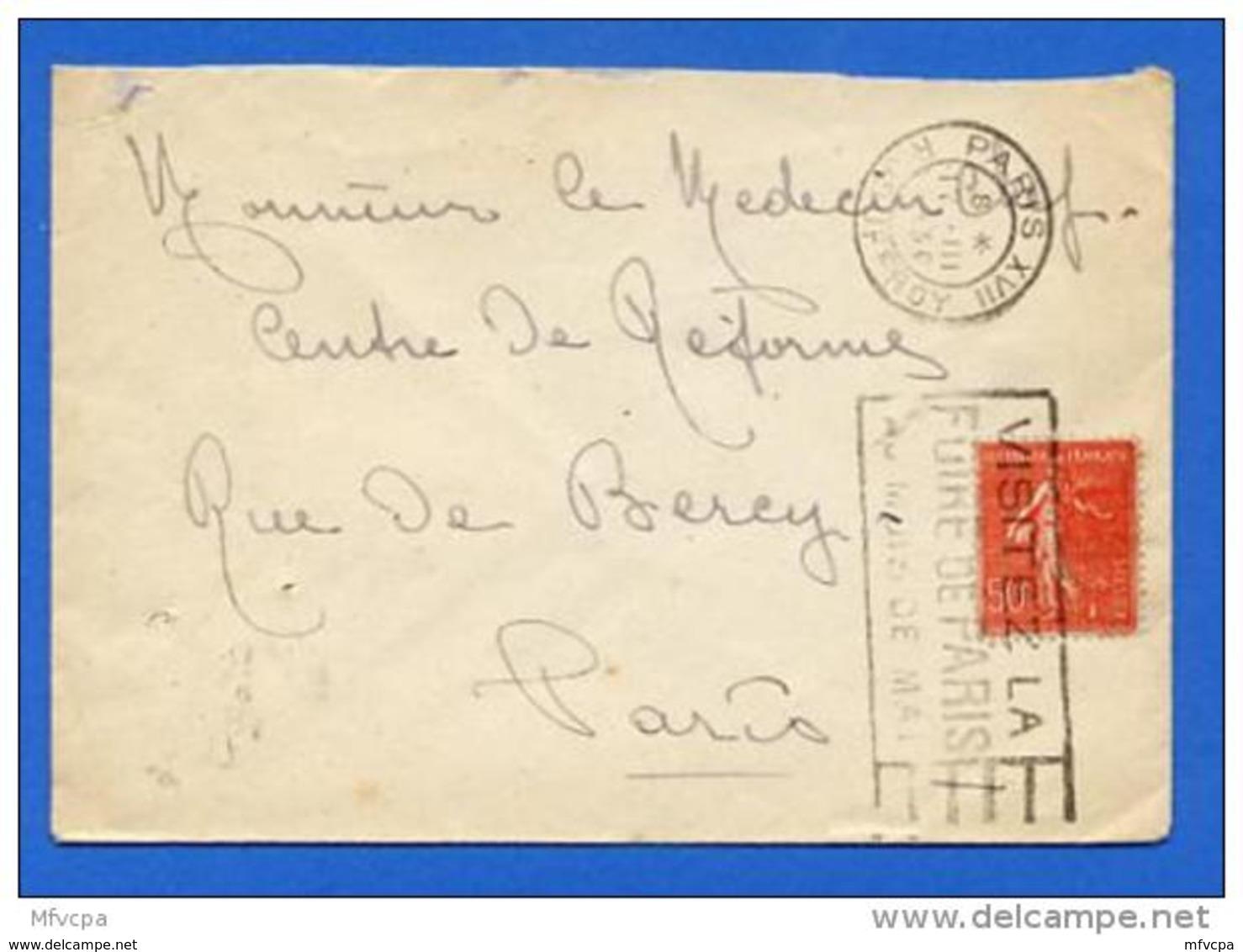 Ar2526 Flier A17115 Paris XVII  Visitez La Foire De Paris 17/03/1930 / Lettre - Marcophilie (Lettres)