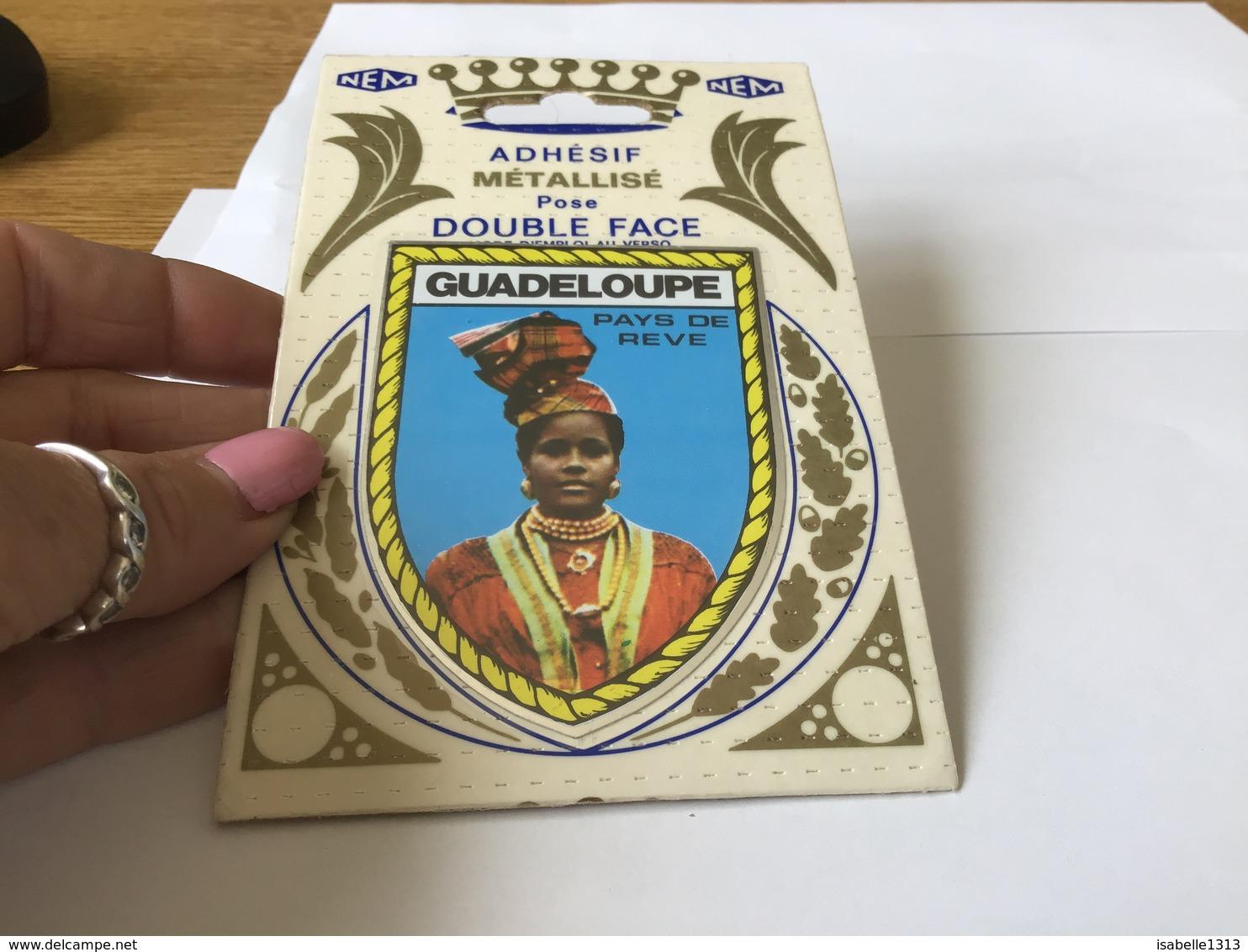 Autocollant Années 80 Adhésif Espace Double Face Guadeloupe - Autocollants