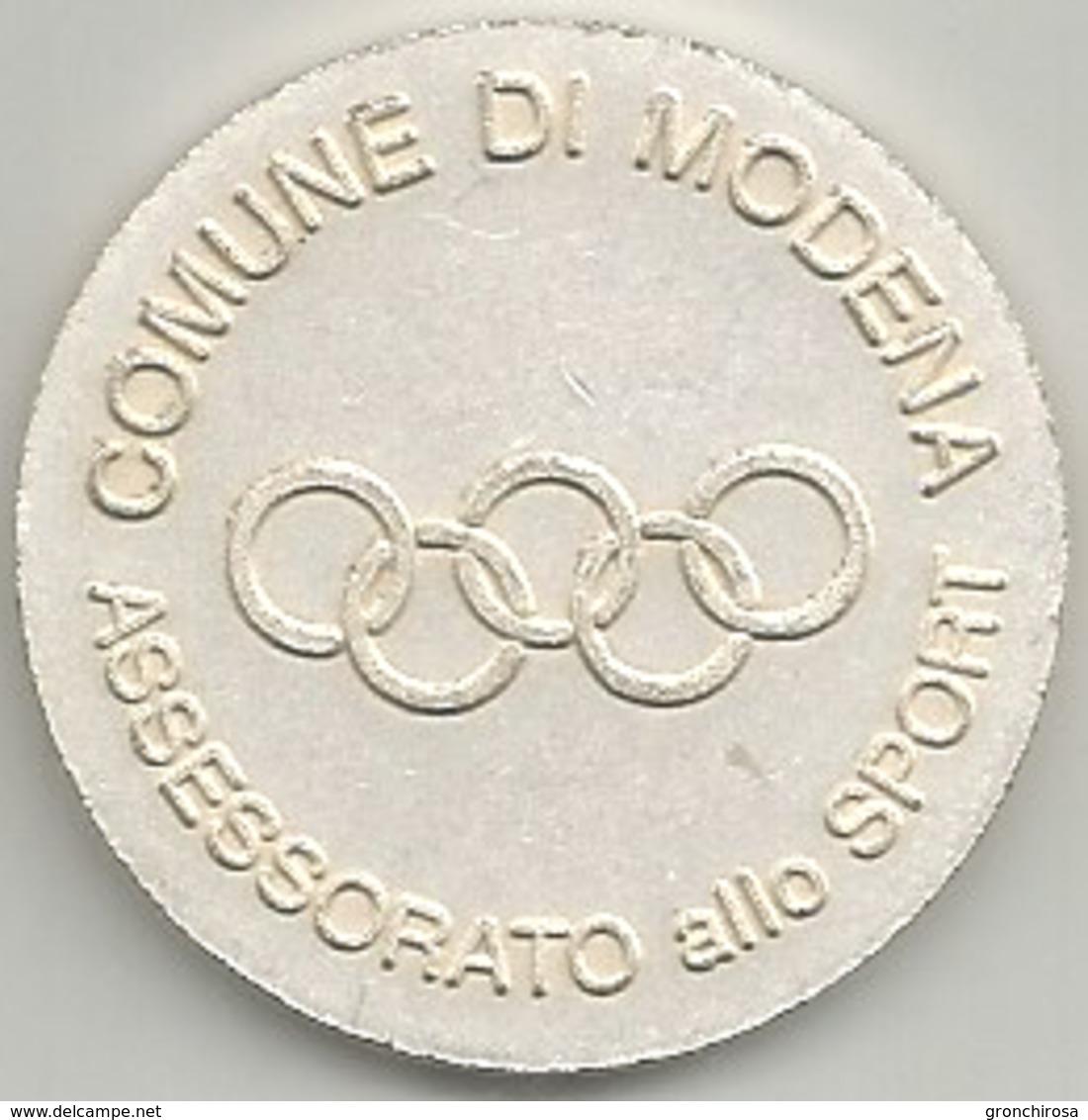 Modena Comune, Assessorato Allo Sport, Mist. Dorata E Smaltata Gr. 12, Cm. 3,2. - Italia