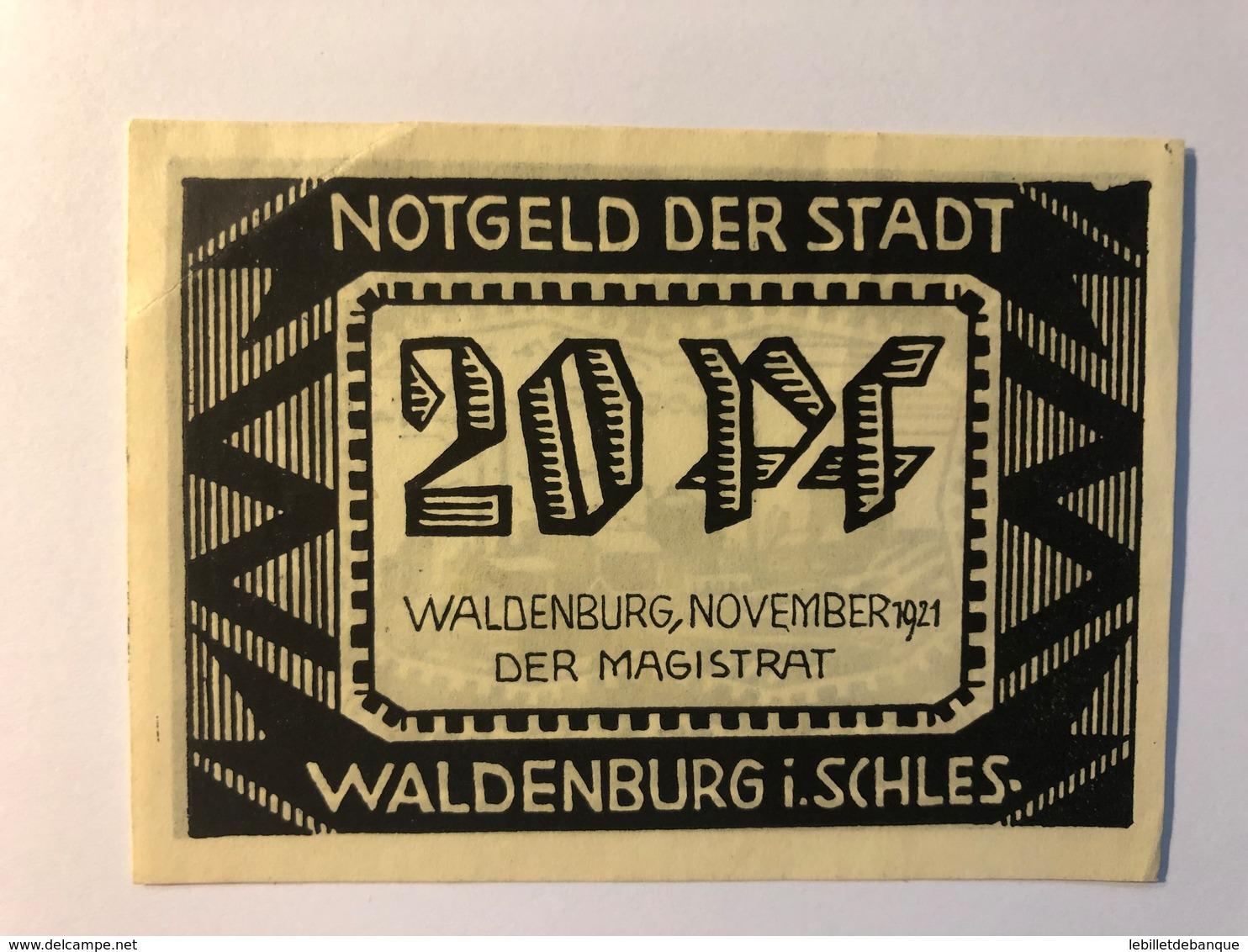 Allemagne Notgeld Waldenburg 20 Pfennig - Collections