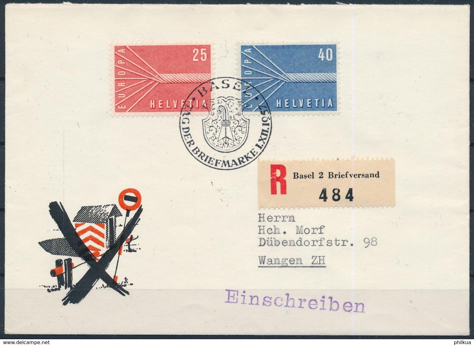 1957 TAG DER BRIEFMARKE - BASEL - Lettres & Documents