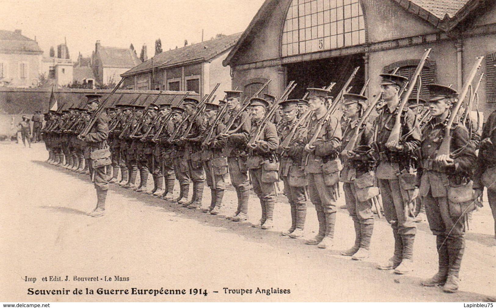 CPA Guerre 14 Européenne Grande Souvenir Troupes Anglaises - Guerre 1914-18
