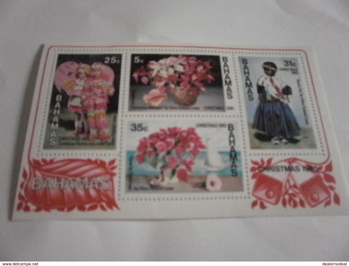 Miniature Sheet Perf Christmas 1985 - Bahamas (1973-...)