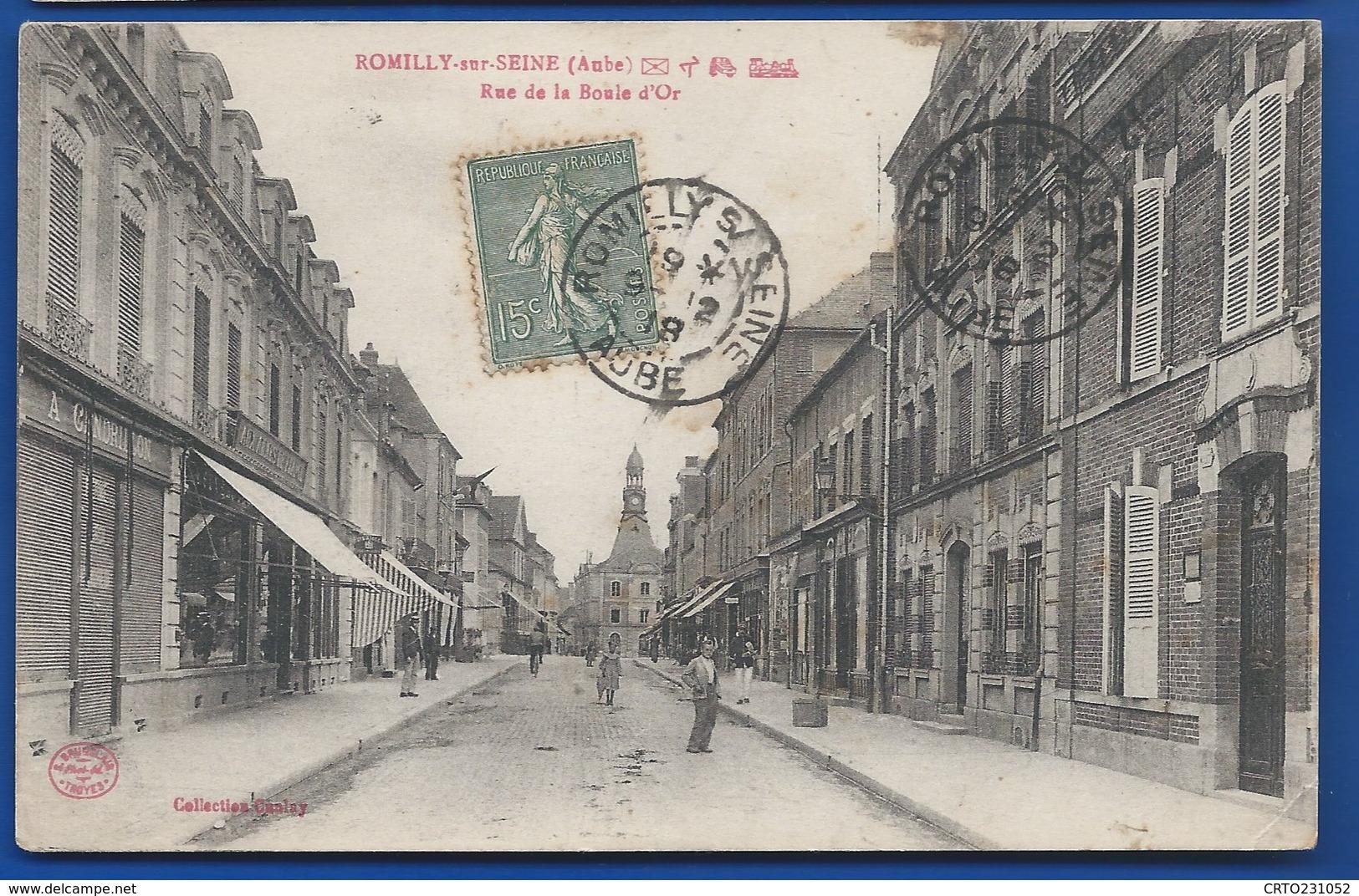 ROMILLY-sur-SEINE    Rue De La Boule D'Or     Animées   écrite En 1918 - Romilly-sur-Seine
