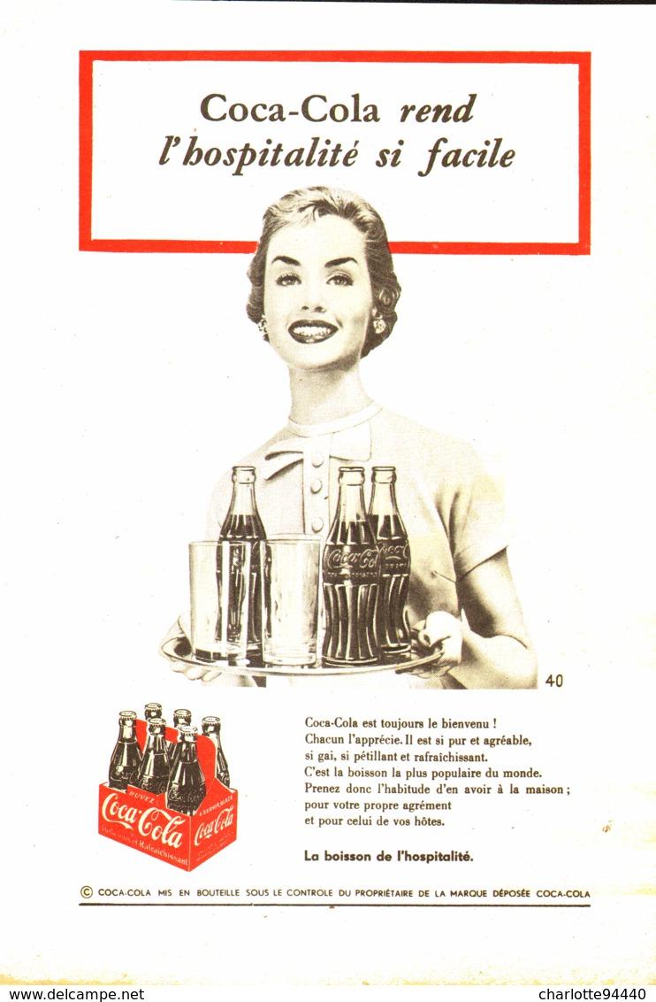 """PUB """" COCA-COLA """" 1950'S ( 3 ) - Affiches Publicitaires"""