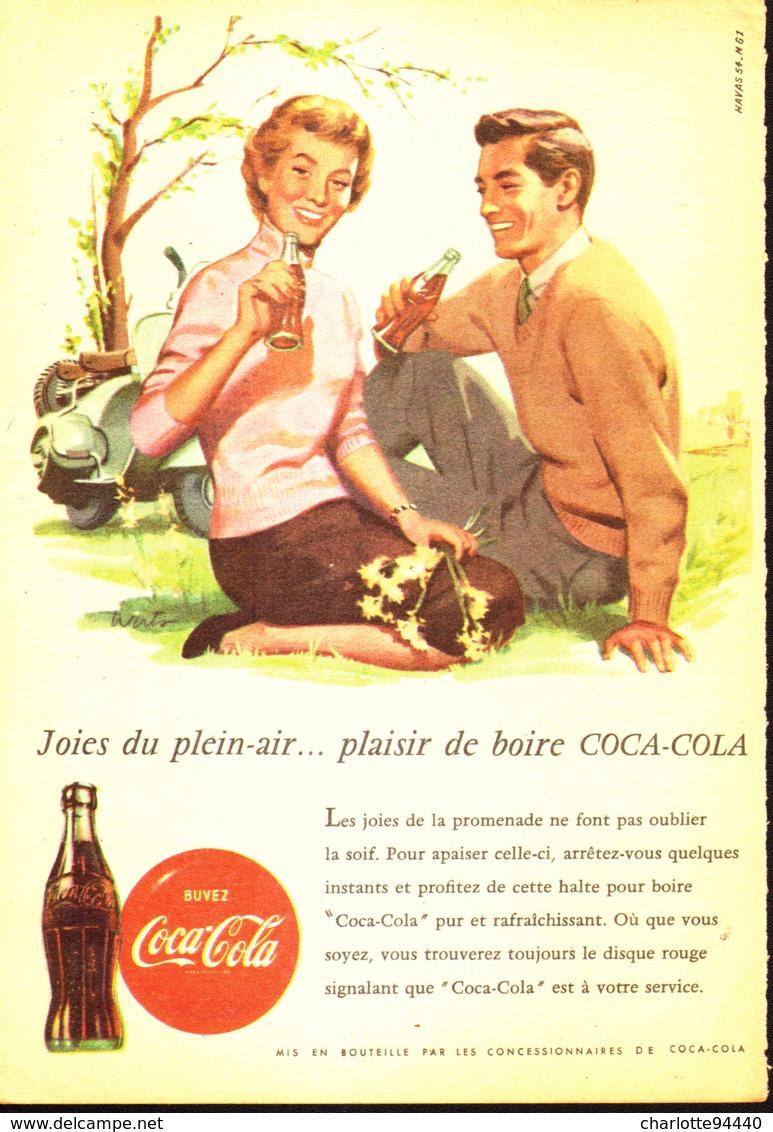 """PUB """" COCA-COLA """" 1950'S ( 9 ) - Affiches Publicitaires"""