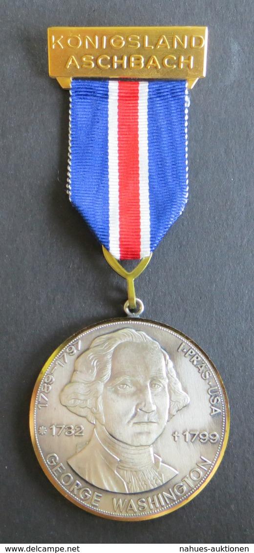 Medaille Königsland Aschbach George Washington 1 Präsident USA 1732-1799 - Ohne Zuordnung