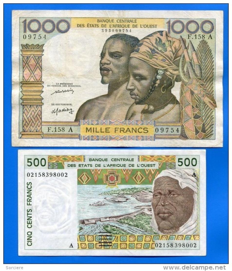Cote  D'ivoire  2  Billets - Côte D'Ivoire