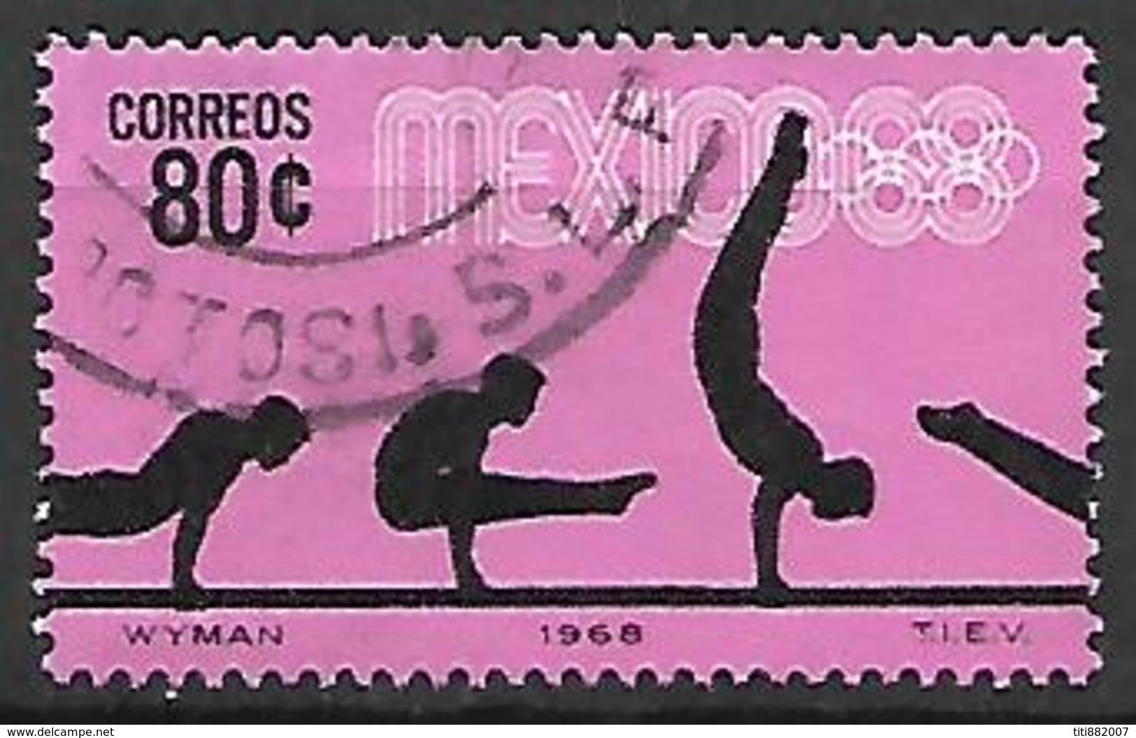 MEXIQUE   -   1968 .  JO De Mexico  /  Gymnastique .   Oblitéré  . - Mexique