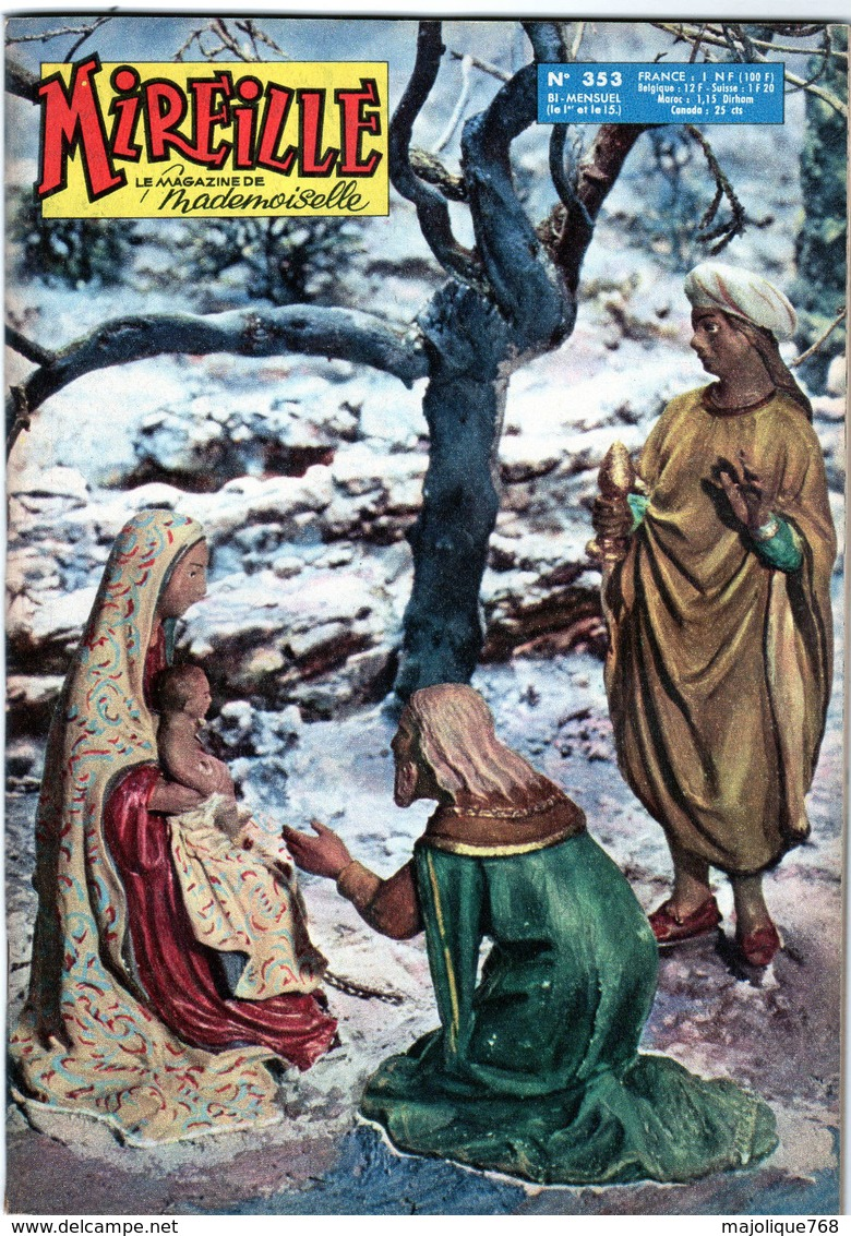 Mireille Le Magazine De Mademoiselle N°353 Le 01 Janvier 1962 édition Del Duca - Autre Magazines
